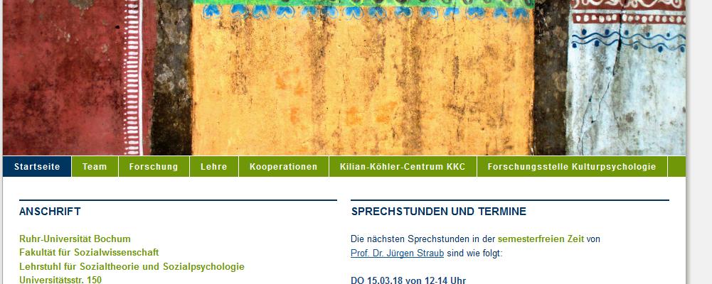 DoktorandInnen-Kolloquium des Lehrstuhls für Sozialtheorie und Sozialpsychologie, Ruhr-Universität Bochum